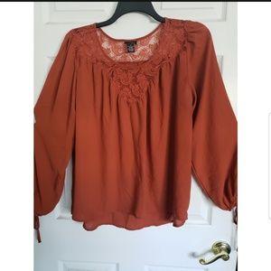 Lace long sleeve blouse